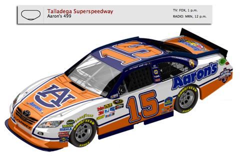 Auburn NASCAR Michael Waltrip Paint Scheme