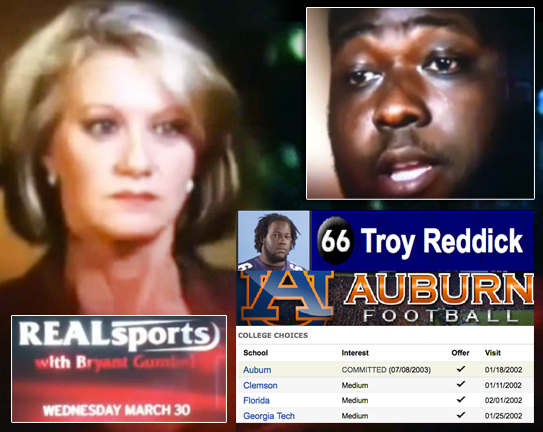 Auburn football player Troy Reddick appears in HBO Real Sports Episode